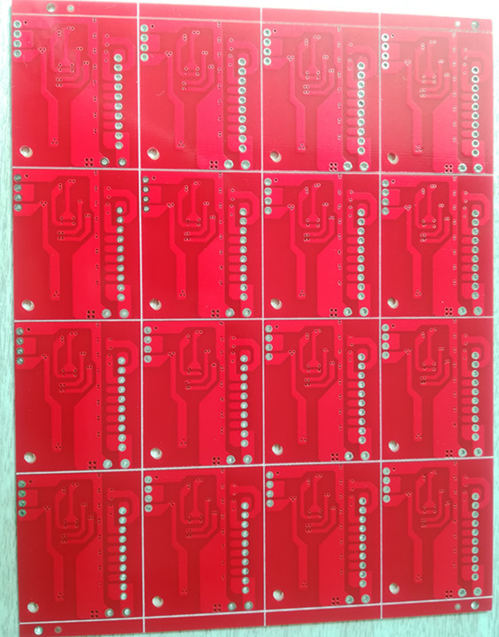 Double sided pcb board with Red Solder mask